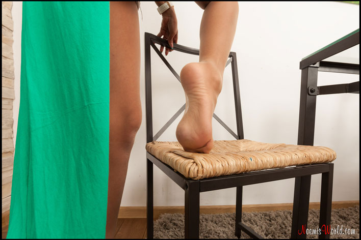 Celine-tan-pantyhose-on-table-13